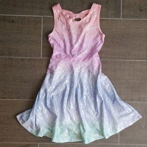 Other - Girl's rainbow mermaid twirly tank dress